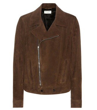 jacket biker jacket suede brown