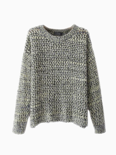 Gray Fluffy Sweater In Multi Color | Choies