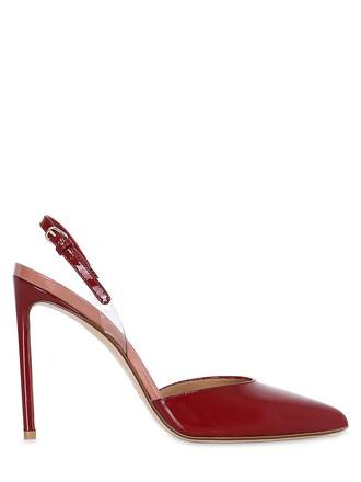 back pumps leather burgundy shoes