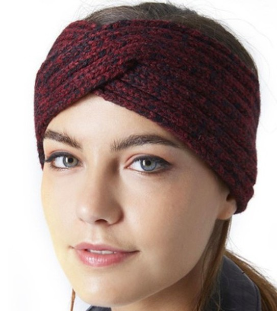 hat winter hat ear warmer red and black head wrap accessories e3ea928c775
