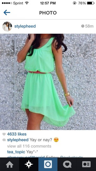 dress high-low dresses mint green dress belt sleeveless