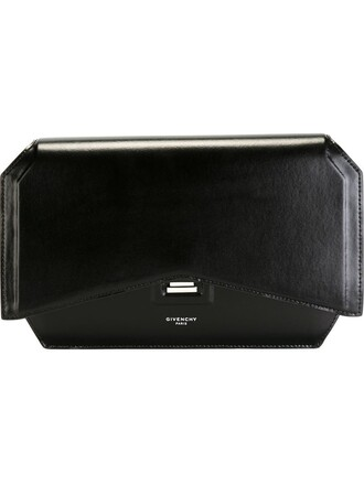 bow clutch black bag
