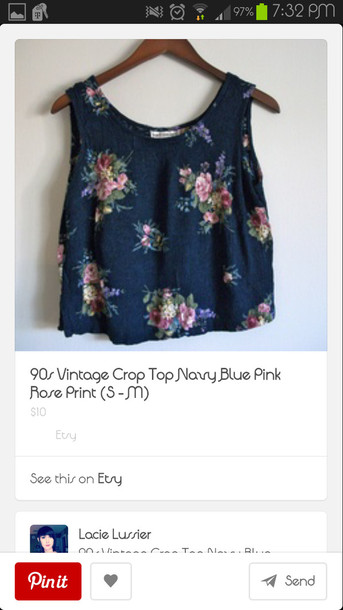 shirt tank top floral crop tops