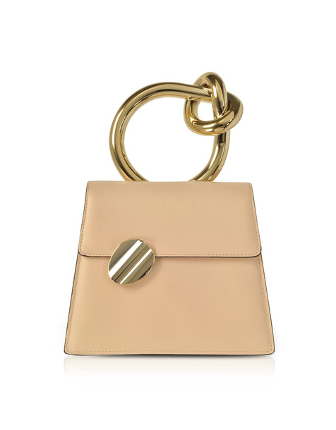 satchel metal nude bag
