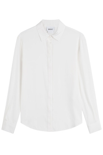 shirt silk white top