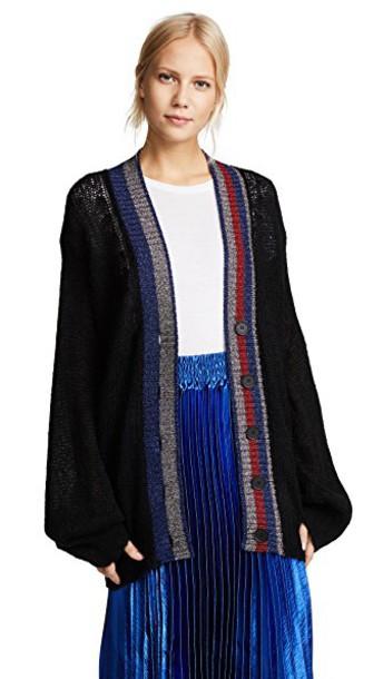 Hilfiger Collection cardigan cardigan metallic mohair sweater
