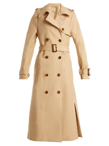 coat trench coat cotton beige