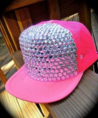pink hat diamons