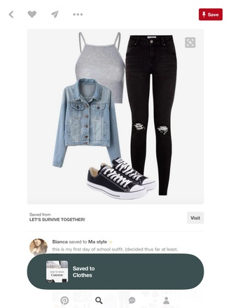shirt crop tops grey jeans