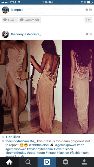 evening dress soft slit dress