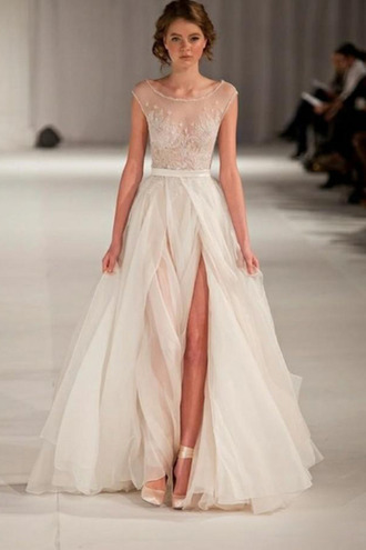 dress prom white wedding runway maxi dress long shoes