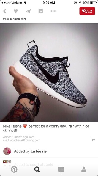 shoes black shoes white polka dots nike running shoes nike shoes nike roshes jumpsuit