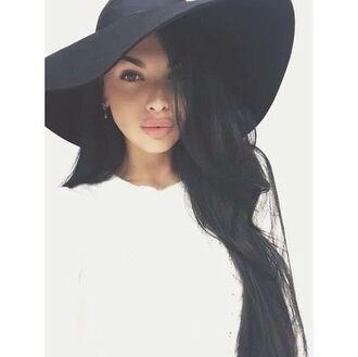 hair accessory hat big hat black big hat black girly trendy classy fancy fashion 2015 trends