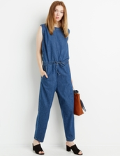 jumpsuit,chambray,denim jumpsuit