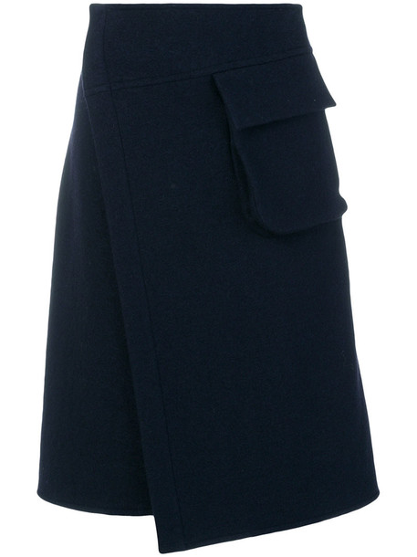 Nehera skirt wrap skirt women cotton blue wool
