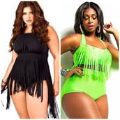 swimwear,style,swimsuit high waisted floral,bikini,bikini top,bikini bottoms,Tassel dress,tassel sandals,bathing suit top,plus size swimwear,plus size dress,fashion,fashionista,plus size shirt,green swimwear,lime,2 piece skirt set,bodysuit,black dress,beach,watermelon shirt,curvy,fringes