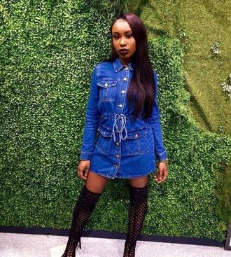 dress jeans jean dress buttons gold gold buttons medium instagram cute dress short dress