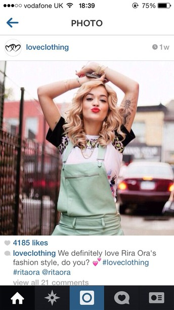 t-shirt rita rita ora top celeb celebrity fashion tumblr singer artist print coat