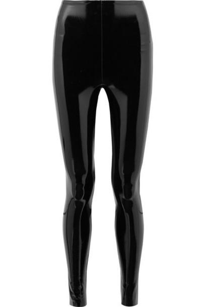 Commando - Stretch-vinyl Leggings - Black