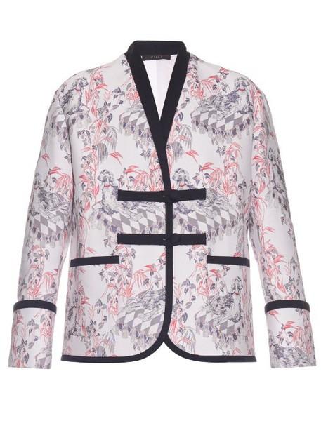 GILES jacket jacquard white