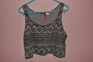 Aztec crop top cami h& m h and m size 8
