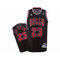 Adidas nba michael jordan #23 black bulls jerseys red strip