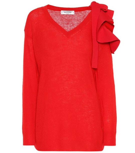 Valentino Cashmere and wool sweater in red
