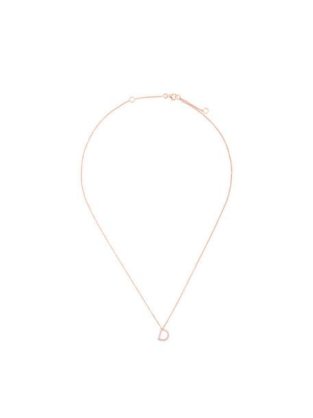 Alinka rose gold rose women necklace diamond necklace gold grey metallic jewels