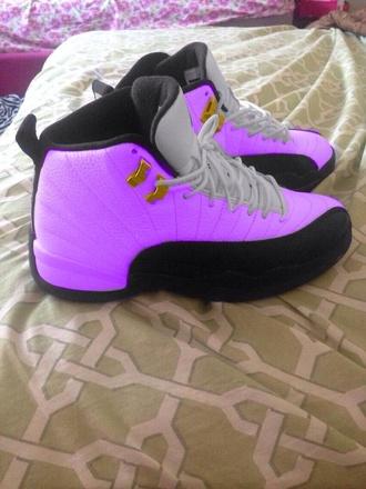 shoes fake butt butt butt lifter jordans purple sneakers high top sneakers