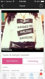 off white sweater,black,sweater,white,aaliyah,tupac,legends