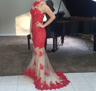 dress prom prom dress nudedress redandnude red nude needtofind red dress