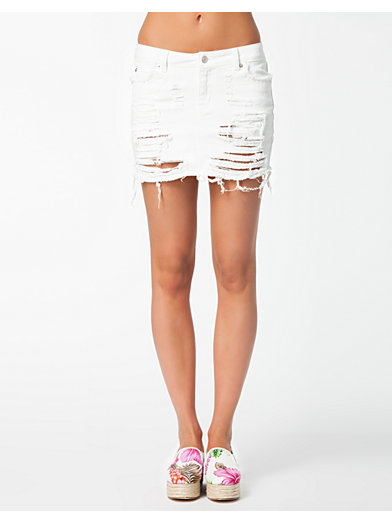 Perfect Denim Skirt - Estradeur - Wit - Rokken - Kleding - Vrouw - Nelly.com