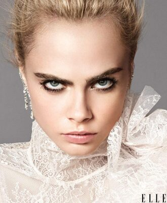 blouse lace top cara delevingne model editorial