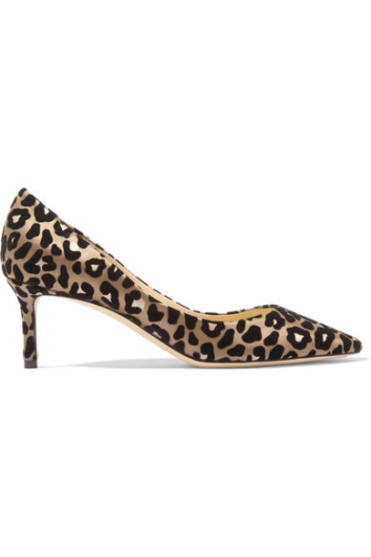 Jimmy Choo pumps print satin leopard print shoes