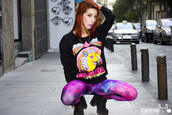sweater,it girl shop,black,galaxy print,lookbook,go to hell,grunge,streetstyle,grunge shoes,kawaii grunge