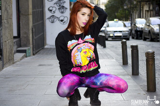sweater it girl shop black galaxy print lookbook go to hell grunge streetstyle grunge shoes kawaii grunge