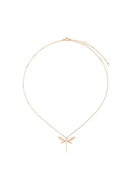 Anapsara rose gold rose women dragonfly necklace pendant gold purple pink jewels