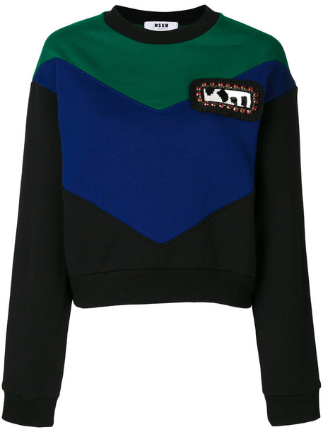 MSGM sweatshirt women cotton black sweater