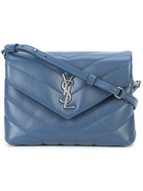 Saint Laurent women bag shoulder bag leather blue
