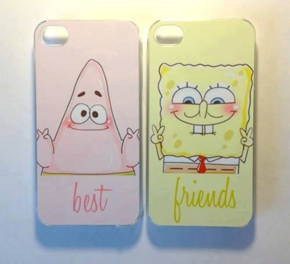 friends jewels best patrick pink yellow iphone cases iphone case best friends peace peace sign spongebob and patrick