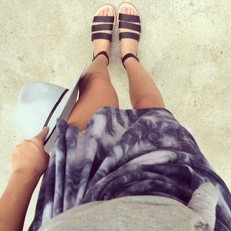 dip dyed skirt