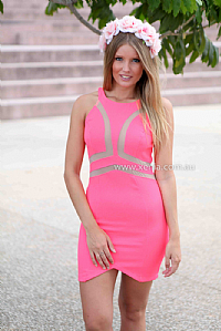 SERENA  DRESS , DRESSES, TOPS, BOTTOMS, JACKETS & JUMPERS, ACCESSORIES, 50% OFF SALE, PRE ORDER, NEW ARRIVALS, PLAYSUIT, COLOUR, GIFT VOUCHER,,Pink,LACE,CUT OUT,BODYCON,SLEEVELESS,MINI Australia, Queensland, Brisbane