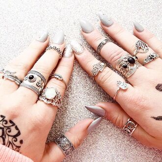 jewels cherry diva knuckle ring ring silver ring silver silver jewelry boho jewelry