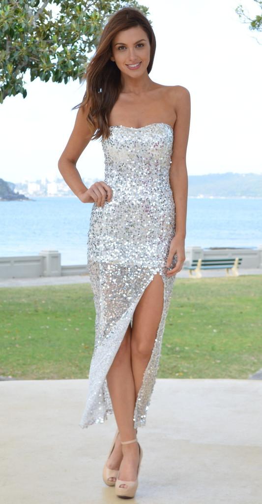 Irma sequin maxi dress