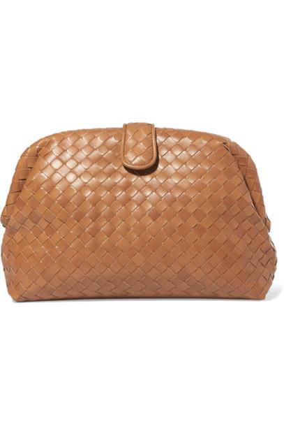 Bottega Veneta leather clutch clutch leather camel bag