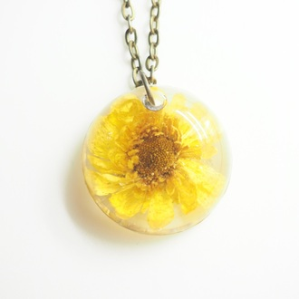 jewels summer summer handcraft daisy flowers floral necklace cute handmade jewelry spring accessory