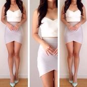 skirt,bandage,bandage skirt,tulip bandage skirt,tulip frost,lush boulevard,mini,mini skirt,tank top