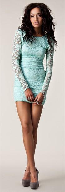 dress lace dress blue lace long sleeve dress tiffany blue dress blue dress tiffany blue short mint mint long sleeves