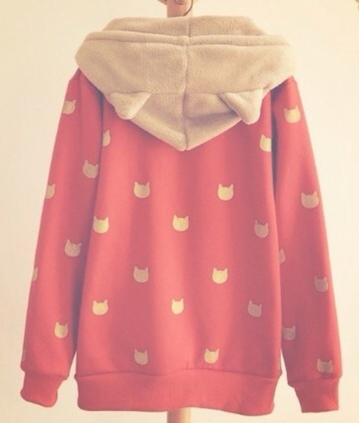 Sweater Japanese Kawaii Neko Cute Cats Jacket