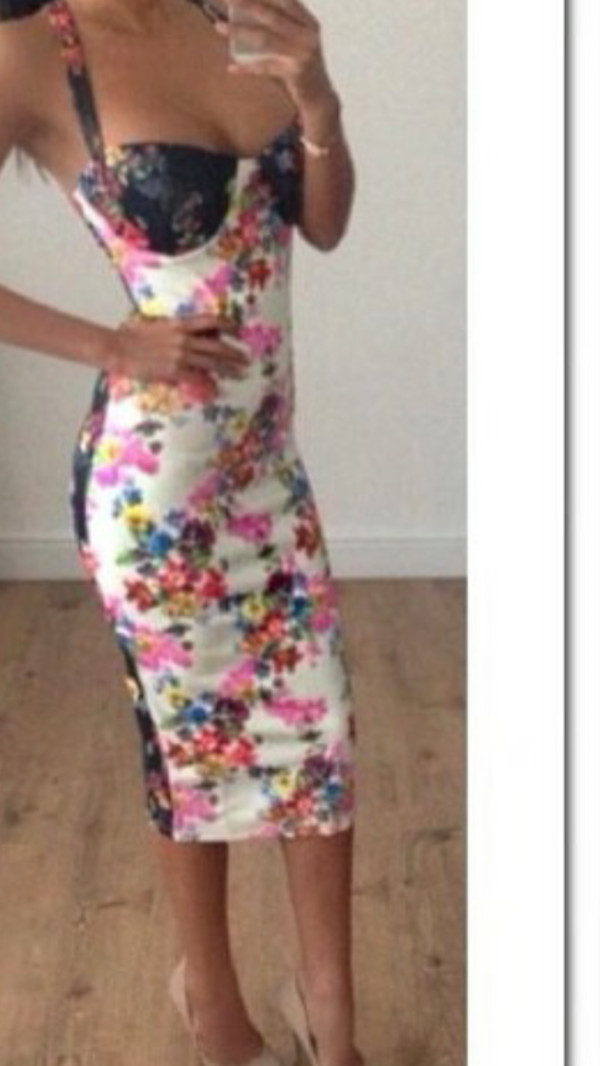 bodycon bodycon dress floral dress midi dress